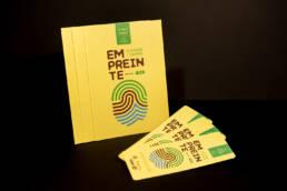 Création de la totalité des supports imprimés (programme, marque page...), pour le Jardin Éphémère de la ville de Nancy