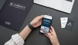 Accompagnement du groupe Habiter pour son programme de luxe Alps Living. Création d'une identité visuelle, d'un site web et de la plaquette du programme.