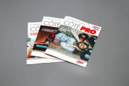 Edition du magazine client Côté Pro pour les 40 ans de Pro & Cie France