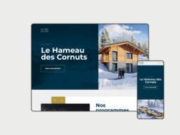 Présence web : Création du site internet responsive pour le programme immobilier ALPS LIVING Groupe Habiter situé en Haute-Savoie