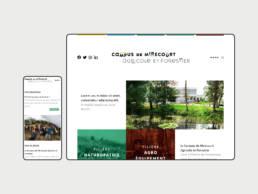 Présence web : Création du site internet responsive pour le Campus de Mirecourt situé dans les Vosges
